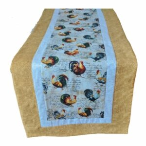 Supreme Accents Hens and Rooster Sand Table Runner