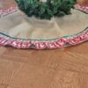 Supreme Accents Reindeer Burlap Christmas Tree Skirt 60 inches